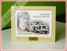 Ford Escort RS Mk 2 Rothmans Rally Team Ari Vatanen 1981 art print MAD Graf art