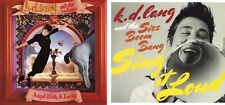 2 k.d. lang CDs - Reclines: Angel with a Lariat + Siss Boom Bang: Sing It Loud