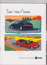 1996 SAAB 900 and 9000 Prestige US Market 38p Brochure Convertible Coupe Aero