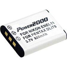 Power2000 EN-EL11/ D-Li78 /Li60B Battery for Select Nikon/Pentax/Olympus Cameras