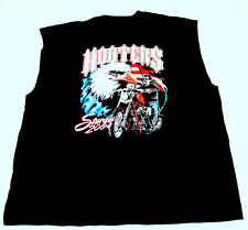 Hooters Uniform Sturgis USA FLag Sleeveless Cut Off Biker Rally T-Shirt XL New