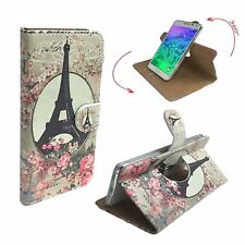 Mobile Phone Wallet Case For Panasonic Eluga I2 - Paris Roses M