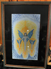 """""""Together Into The Light"""" Beautiful Framed Pen & Ink Great Blending of Colors"""