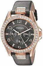 Fossil Original ES3888 Women's Riley Gray Leather Multi Function Watch