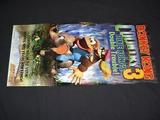 Nintendo SNES Donkey Kong Country 3 poster! *excellent*