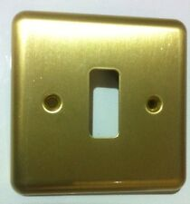 MK 3431 SAB Grid Plate 1 Gang Flush Satin Solid Brass Grid Switch Front Plate
