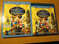 The Three Musketeers (Blu-ray/DVD Combo, 2012,) OOP Slipcover disney