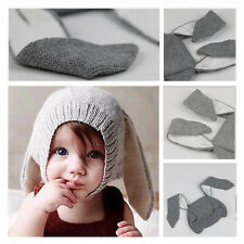 2016 Kids Fashion Fall Winter Knit Beanie Hat Baby Long Ear Rabbit Headgear Cap