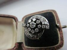 MAGNIFICENT UNUSUAL DESIGN ART DECO DIAMOND RING 18CT WHITE GOLD