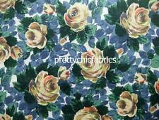 Oxford Rose Navy Cath Kidston Cotton Duck Fabric 1 M x 144cm