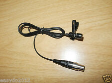 Black Lavalier Lapel Microphone for AKG Wireless 3 Pin XLR Mini