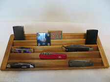 Knife, Case Knives, Matchbox, Lighter 5 Tier Stadium Wood Display-Oak Stained