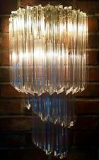 MURANO VENINI Crystal Quatro Glass Spiral Wall Sconce Chandelier PAIR