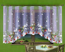Amazing Jardiniere Net Curtain with Strawberries 300cm x 150cm Kitchen Window