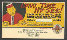 Ca 1937 PC HECKS AUTO SERVICE LONG TIME NO SEE CHINESE TYPE AD UNPOSTED