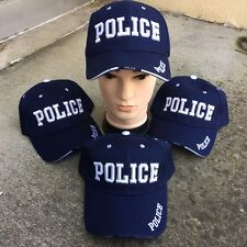 WHOLESALE LOT 4 X BLUE POLICE New Baseball Caps Adjustable HAT HT-88 BLX4