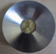 Antique Russian Bronze Coin Stainless Dish (Made In Italy)