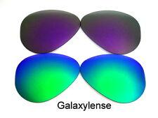 Galaxy Lentes De Repuesto Para Ray Ban RB3025 Aviador verde y púrpura 62mm
