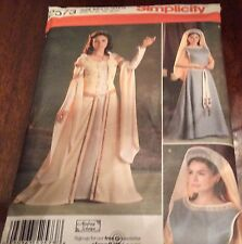 Simplicity Pattern 2573 Misses Renaissance Medieval Dress Costume Sz 8-16