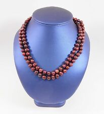 Lovely Cranberry Dyed Pearl Necklace