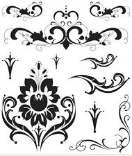 Recollections Clear Stamps - Formal Esque Flourishes Flourish Damask Invitations