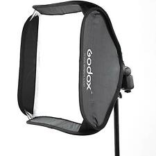 "Godox S-Type Speedlite Bracket Bowens Mount Holder & 24"" 60x60cm Folding Softbox"