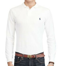 Polo Ralph Lauren Long Sleeve Small Pony Custom Fit White Color Size L