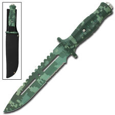 Hangman Tactical Military Digital Camo Drop Point Hunting Outdoor Survival Knife