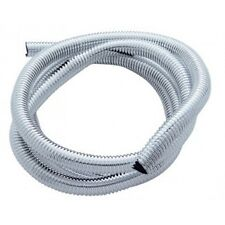 "Wire Loom Conduit - Chrome Color Plastic - 5/8"" Diameter - 72 Inches Long"