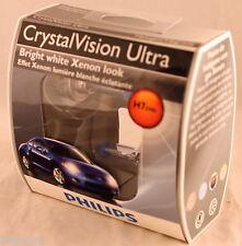 PAIR PHILIPS CRYSTAL VISION ULTRA HALOGEN HEADLIGHTS H7 CVS2 -NEW 12972 55W 12V