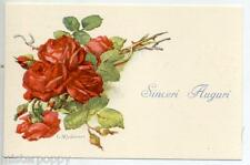 signed C. KLEIN Red Roses Flowers PC Made in Italy circa 1930