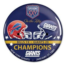 NEW YORK GIANTS BUFFALO BILLS SUPER BOWL XXV CHAMPS ON THE FIFTY BUTTON