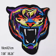 New Large Tiger Embroidered Cloth Patches iron on Patch Applique Jacket Jeans