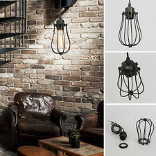 Vintage Industrial Edison Cage Chandelier Ceiling Pendant Light Lamp Lighting