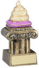 GOLDEN TURD AWARD DOO DOO IN THE SH*T TROPHY BOOBY PRIZE FREE ENGRAVING RM563