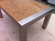 Couchtisch Wohnzimmertisch 110x70 Naturstein Granitplatte+Edelstahlgestell matt