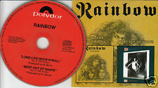 RAINBOW Long Live Rock 'N' Roll & Bent Out Of Shape (CD 1999) 2-in-1 Maximum