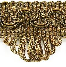 Posamentenborte 35mmx1m(1,0 €/m) Hellbraun/Bronze Bordüre Borte Antiklook Barock