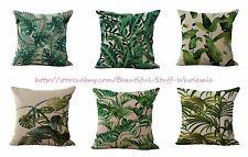 set of 6 garden tropical plant cushion covers cheap for throw  pillow covers