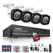 SANNCE 1080N 8CH HDMI DVR Outdoor Home Video 1500TVL Security Camera System