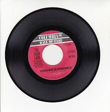 """The FOUR LADS Vinyl 45T 7"""" MOMENTS TO REMEMBER -NO NOT MUCH ! COLUMBIA HALL RARE"""