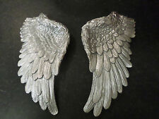 Angel Wings Wall Art Plaque Ornate Shabby Chic Gold Silver Black Bronze Natural