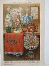 Lithographie, Chinesische Kunst, Kunstgeschichte, China, Brockhaus 1901-1905