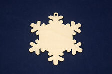 5x Plain Wooden Plywood Snowflake Christmas Decoration Decoupage & Other Crafts