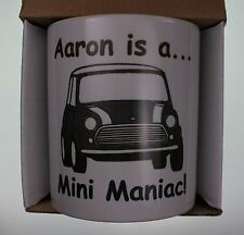 Classic Mini Personalised Coffee Cup Crimbo Man Cave Gift Cooper 1275GT Cooper S