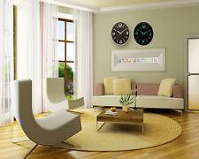Creative Design Fluorescent Light Wall Clock Luminous Hanging Home Decor