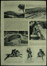 Vintage Archaeology Italy Velia Greek Colony 3 Page Article 1954