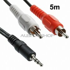 CABLE AUDIO ESTEREO DE 4,4 METROS JACK 3,5 MM A 2 CONECTORES RCA MACHO ALTAVOCES