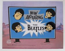 THE BEATLES NOW APPEARING Animation Art Cartoon Sericel Cel