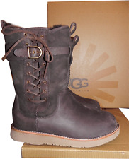 UGG Australia Amelia Buckle Calf Boot Water Resistant Bootie 7-38 Brown